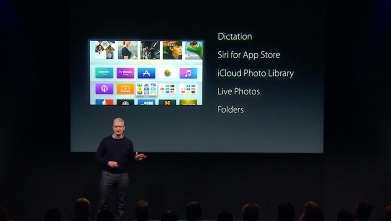 Apple TV Updated With Folders, Dictation, Siri For App Store