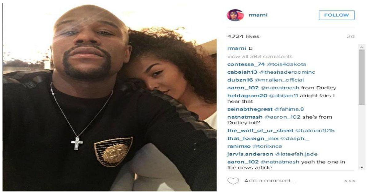 Floyd Mayweather Jr. Appears in Vacation Photos With Rumored 19-Year-Old Girlfriend