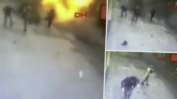 VIDEO Moment Suicide Bomber Kills 4 in Istanbul Explosion