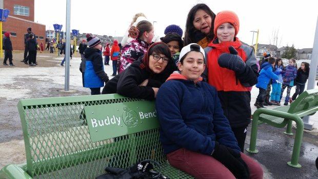 Saskatoon, Saskatchewan School Creates Buddy Bench To Help Kids Make Friends