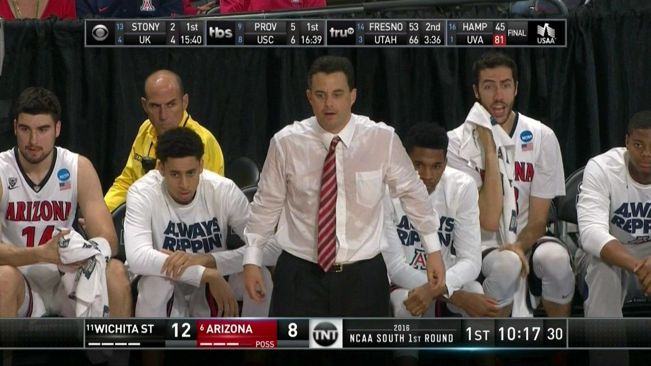 Arizona Coach Sean Miller's Epic Sweating Issue 'Highlight Of March Madness'