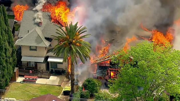 Massive Fire Destroys at Least 2 Homes in Koreatown