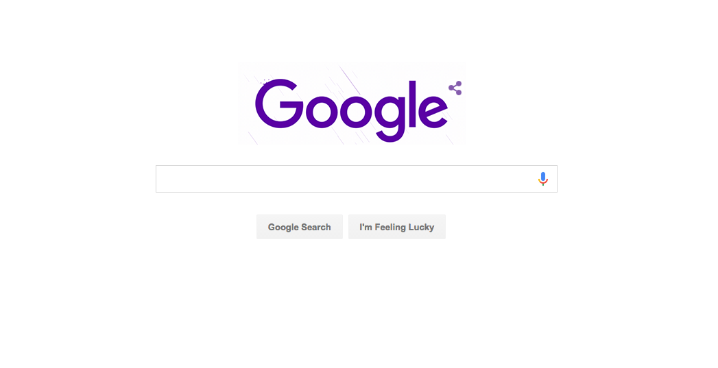 Google Doodle Honors Prince With a Virtual Purple Rain