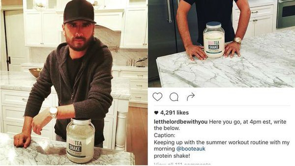 Scott Disick Accidentally Posted Instructions For His Sponsored Instagram Post