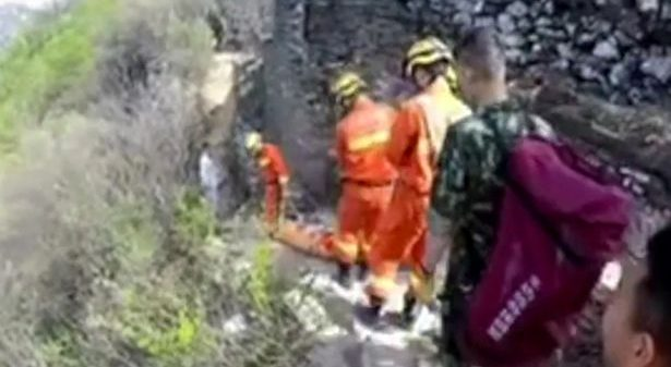 Video Man Miraculously Survives Fall Off The Great Wall of China