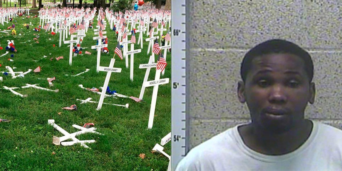 Man Arrested After Damaging Memorial Day Cross Display in Henderson, Kentucky