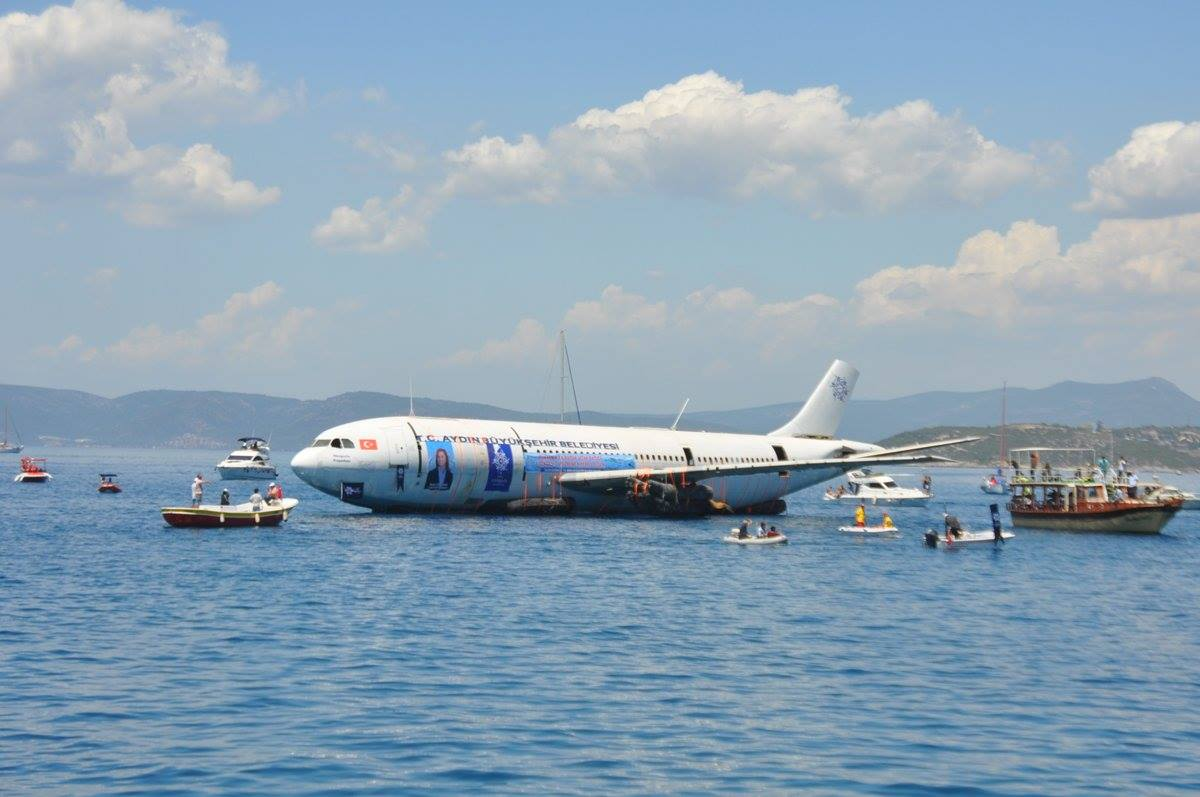 A300 Airbus Jet Sunk Off Turkey to Become Artificial Reef
