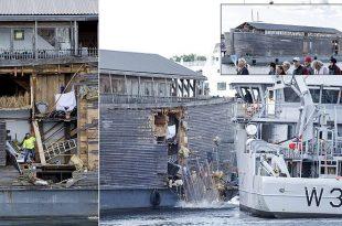 Johan's Ark, Noah's Ark Replica Crashes Into Moored Norwegian Coast Guard Vessel