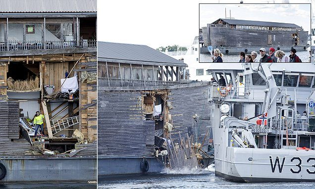 Johan's Ark, Noah's Ark Replica Crashes Into Moored Norwegian Coast Guard Vessel