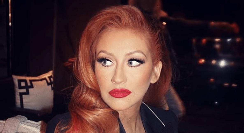 Christina Aguilera Reveals New Red Hair at Hillary Clinton Fundraiser