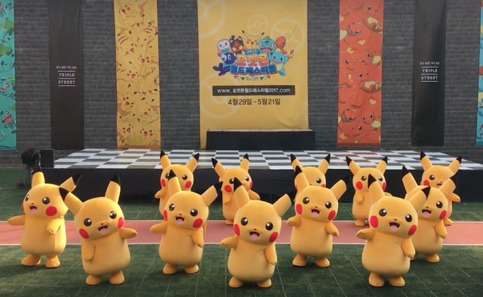 Pikachu parade dance during Pokemon World Festival 2017