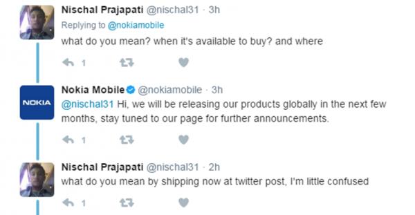 Nokia's Tweet
