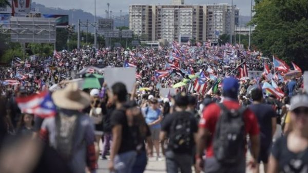 Massive Protests Shut Down Highway in Puerto Rico After Governor Refuses to Step Down